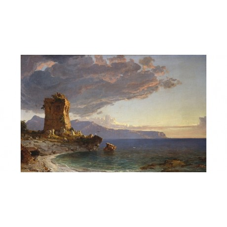 "JASPER FRANCIS CROPSEY ""The Isle Of Capri"" CANVAS PRINT various SIZES, BRAND NEW"