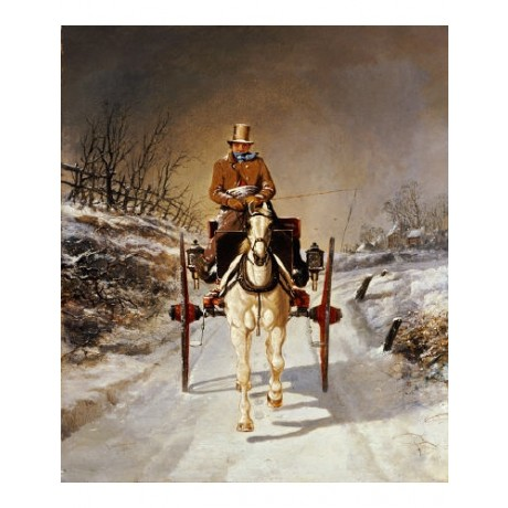 "BENJAMIN HERRING, JR ""A Winter's Drive"" print ON CANVAS various SIZES available"
