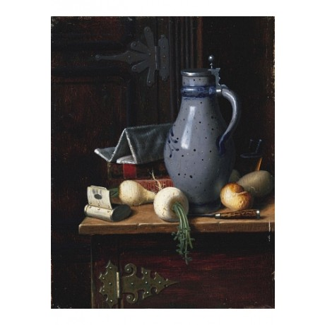 "WILLIAM HARNETT ""Turnips And Beer Stein"" CANVAS PRINT! various SIZES available"