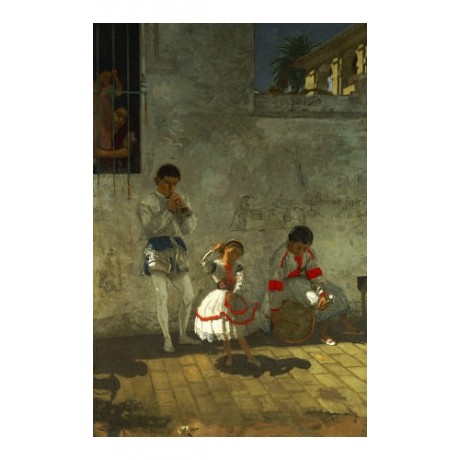"THOMAS COWPERTHWAIT EAKINS ""Street Scene Seville"" PRINT various SIZES, BRAND NEW"