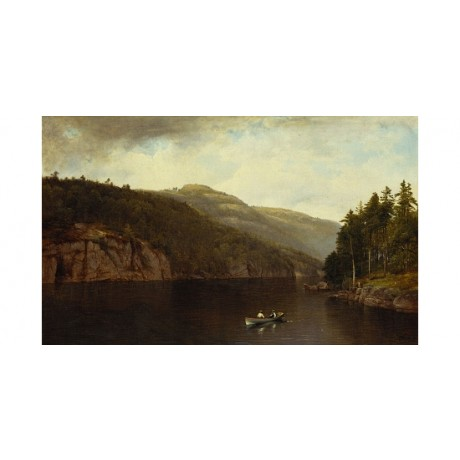 DAVID JOHNSON Boating on Lake George NEW CANVAS print! various SIZES, BRAND NEW