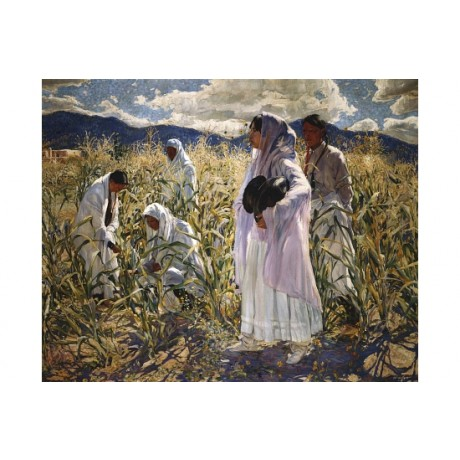 "WALTER UFER ""Indian Corn, Taos"" AMERICA canvas print! various SIZES, BRAND NEW"