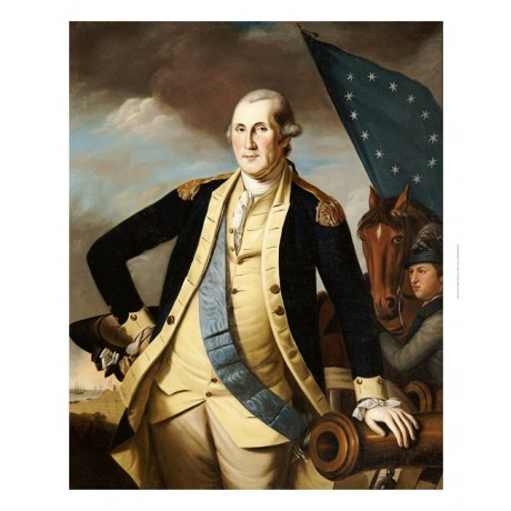 CHARLES WILLSON PEALE George Washington RARE PRINT choose your SIZE, from 55cm
