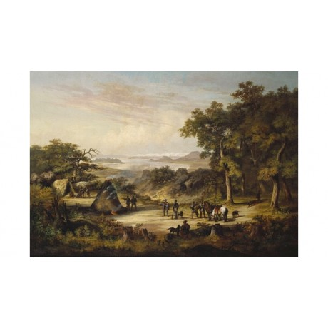 """WILLIAM HEINE """"Perry's Expedition At Hako Date"""" CANVAS! various SIZES, BRAND NEW"""