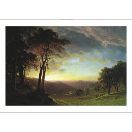 "ALBERT BIERSTADT ""Sacramento River Valley"" CANVAS ART various SIZES, BRAND NEW"