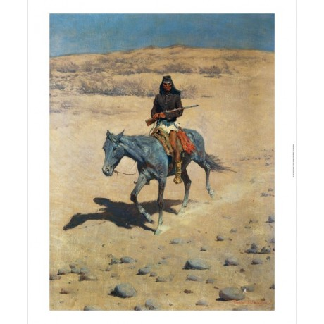 "FREDERIC REMINGTON ""Apache Scout"" INDIAN canvas print! various SIZES, BRAND NEW"