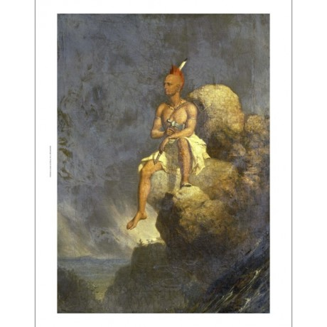 "CHARLES DEAS ""Indian Warrior On Precipice"" PRINT new various SIZES available"