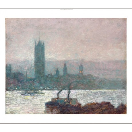 FREDERICK HASSAM Houses of Parliament new CANVAS print! various SIZES, BRAND NEW