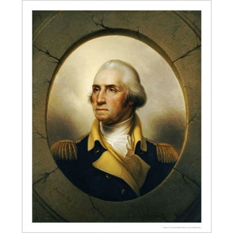 "REMBRANDT PEALE ""George Washington"" Military ON CANVAS various SIZES, BRAND NEW"