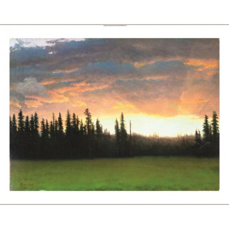 "ALBERT BIERSTADT ""California Sunset"" CANVAS EDITION various SIZES available, NEW"