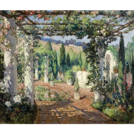 "COLIN CAMPBELL COOPER ""Samarkand, Santa Barbara"" CANVAS various SIZES, BRAND NEW"