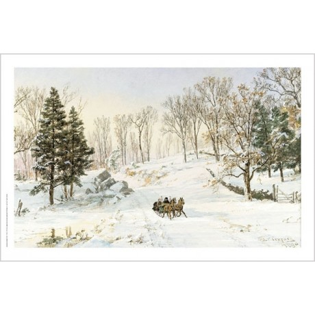 JASPER FRANCIS CROPSEY Winter on Ravensdale Road, NEW various SIZES, BRAND NEW