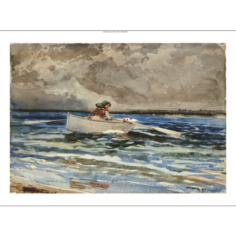 """WINSLOW HOMER """"Rowing At Prout's Neck"""" boat print NEW various SIZES, BRAND NEW"""