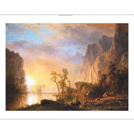 "ALBERT BIERSTADT ""Sunset In Rockies"" CANVAS EDITION various SIZES available, NEW"