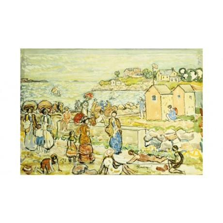 MAURICE BRAZIL PRENDERGAST Bathers And Strollers PRINT various SIZES, BRAND NEW