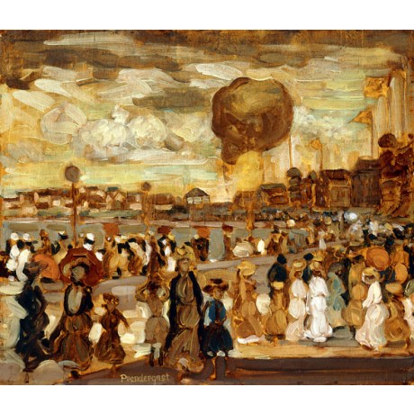 "MAURICE BRAZIL PRENDERGAST ""The Balloon"" SPECTACLE promenade FIRE coast fun NEW"