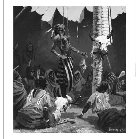 FREDERICK REMINGTON Mandan Initiation Ceremony CANVAS various SIZES, BRAND NEW