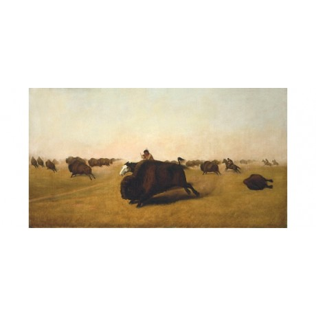 "WILLIAM HAYS ""Buffalo Hunt On The Plains"" CANVAS PRINT! various SIZES, BRAND NEW"