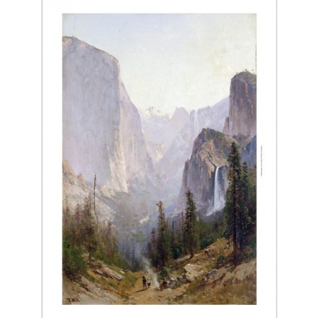 "THOMAS HILL ""Yosemite Waterfall"" california new CANVAS! various SIZES, BRAND NEW"