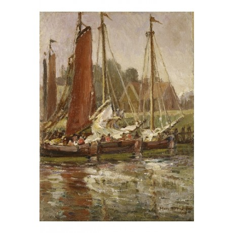 MARY HERRICK ROSS Boats in Monterey Harbour new CANVAS! various SIZES, BRAND NEW