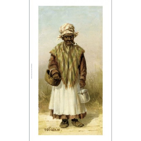 """WILLIAM AIKEN WALKER """"Woman With Pipe"""" CANVAS ART ! various SIZES available, NEW"""