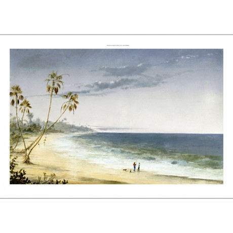 CHARLES DE WOLF BROWNELL Cuban beach CANVAS ART choose SIZE, from 55cm up, NEW