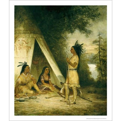 "AMERICAN SCHOOL ""Betrothal Of Hiawatha"" print NEW choose SIZE, from 55cm up, NEW"