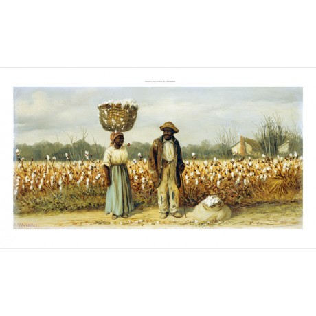 "WILLIAM AIKEN WALKER ""Cotton Pickers"" CANVAS ART ! choose your SIZE, from 55cm"