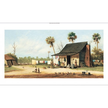 "WILLIAM AIKEN WALKER ""Laundry Day"" CANVAS ART ! choose SIZE, from 55cm up, NEW"