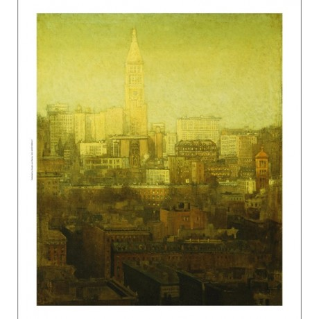PAUL CORNOYER New York Cityscape morning SKYLINE in sunlight tower NEW CANVAS!