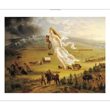 "JOHN GAST ""American Progress"" Landscape CANVAS EDITION various SIZES, BRAND NEW"