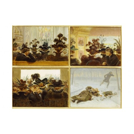 EDWARD LAMSON HENRY Women's Hats Art PRINT various SIZES available