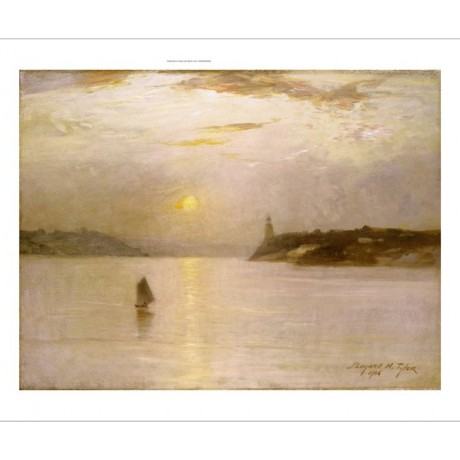 "BAYARD HENRY TYLER ""Sailing On Hudson"" CANVAS ART choose SIZE, from 55cm up, NEW"
