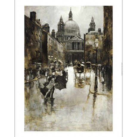 JOSEPH PENNELL St Paul's Cathedral PRINT New CANVAS various SIZES available, NEW