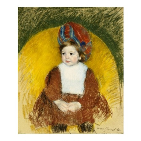 MARY CASSATT Margot in Red Costume on Chair new CANVAS various SIZES, BRAND NEW