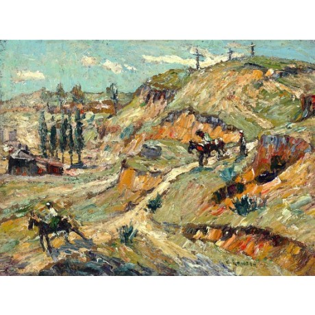 "ERNEST LAWSON ""The Riders"" cowboys american west CANVAS various SIZES, BRAND NEW"