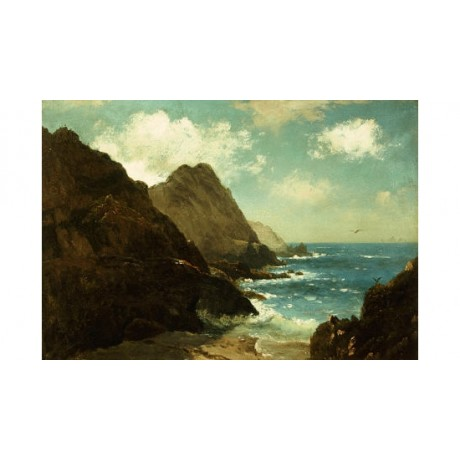 "ALBERT BIERSTADT ""Farallon Islands"" CANVAS EDITION choose your SIZE, from 55cm"