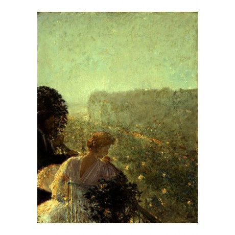"FREDERICK CHILDE HASSAM ""Summer Evening, Paris"" PRINT various SIZES, BRAND NEW"