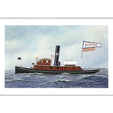"ANTONIO JACOBSEN ""M. Moran Tug Boat"" CANVAS EDITION various SIZES available, NEW"