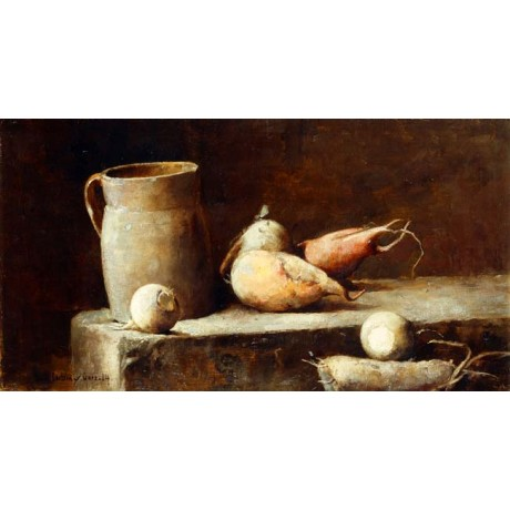 SOREN EMIL CARLSEN The Root Cellar CLOSE UP bulb jug NEW canvas VISIT our SHOP
