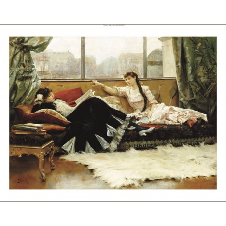 "JULIUS LEBLANC STEWART ""Sarah Bernhardt"" CANVAS ART various SIZES available, NEW"