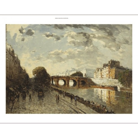 "FRANK MYERS BOGGS ""Seine in Paris: Quai Des Augustins"" various SIZES, BRAND NEW"