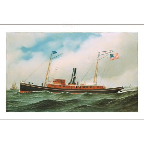 "ANTONIO JACOBSEN ""Storm King"" ship print NEW CANVAS various SIZES available, NEW"
