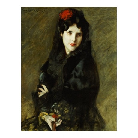 WILLIAM MERRIT CHASE Mrs Chase In Spanish Costume PRINT various SIZES available