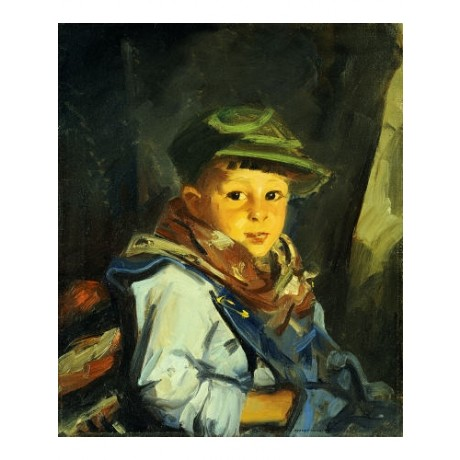 "ROBERT HENRI ""Boy With Green Cap"" CANVAS ART ! choose SIZE, from 55cm up, NEW"