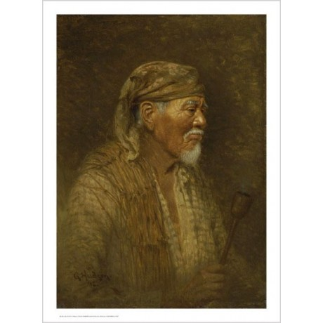 "GRACE CARPENTER HUDSON ""Portrait Of A Pomo Chief"" Print various SIZES, BRAND NEW"