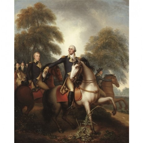 "REMBRANDT PEALE ""Washington Before Yorktown"" american REVOLUTION battle CANVAS"