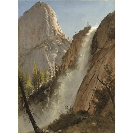 "ALBERT BIERSTADT ""Liberty Cap, Yosemite"" CALIFORNIA national park peak CANVAS"
