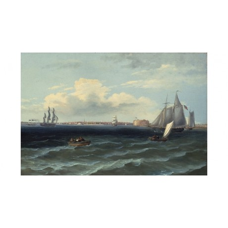 THOMAS BIRCH View of New York Harbor ships new CANVAS! various SIZES, BRAND NEW