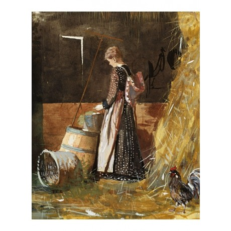 "WINSLOW HOMER ""Fresh Eggs"" farm cockerel new CANVAS! various SIZES available"